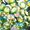 Acrylic Round Flat Back Rhinestones 20mm Peridot Aurora Borealis 200pcs/bag